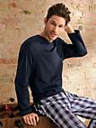 Mey - Pyjamashirt met lange mouwen en V-hals