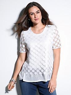 Emilia Lay - Shirt met ronde hals en korte mouwen