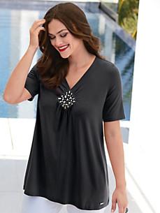 Emilia Lay - Shirt met V-hals en korte mouwen