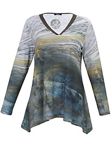 FRAPP - Shirt met modieuze print