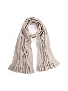 Peter Hahn Cashmere - Gebreide sjaal 100% kasjmier