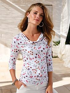 Uta Raasch - Shirt met 3/4-mouwen en cascadehals