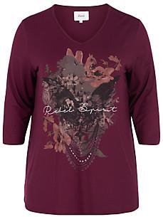 zizzi - Shirt met V-hals en driekwartmouwen