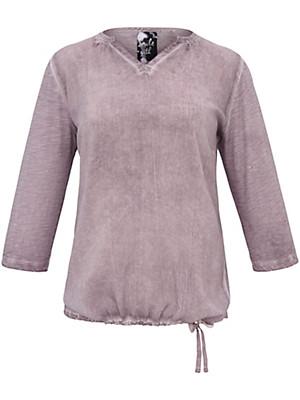 FRAPP - Shirt met V-hals