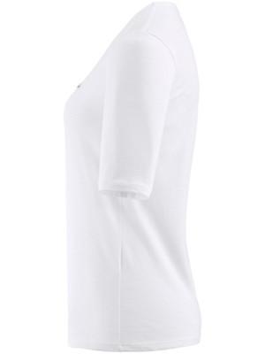 Lacoste - Shirt met ronde hals en verlengde, korte mouwen
