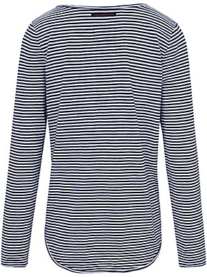 LIEBLINGSSTÜCK - Gestreept shirt met geborduurd opschrift