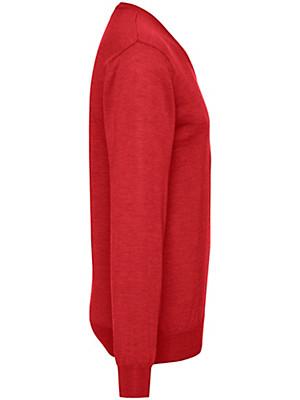 Peter Hahn - Pullover met V-hals van 100% scheerwol