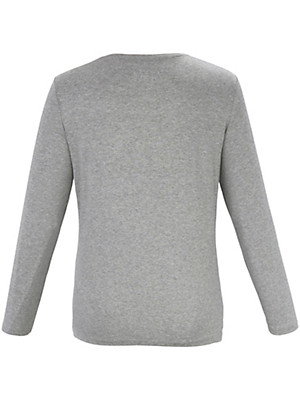 Samoon - Gestreept shirt met glitterstrepen