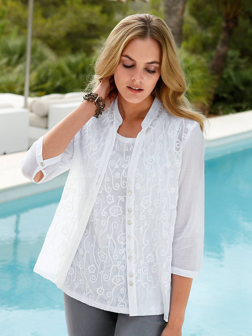 just white blouse wit. Black Bedroom Furniture Sets. Home Design Ideas