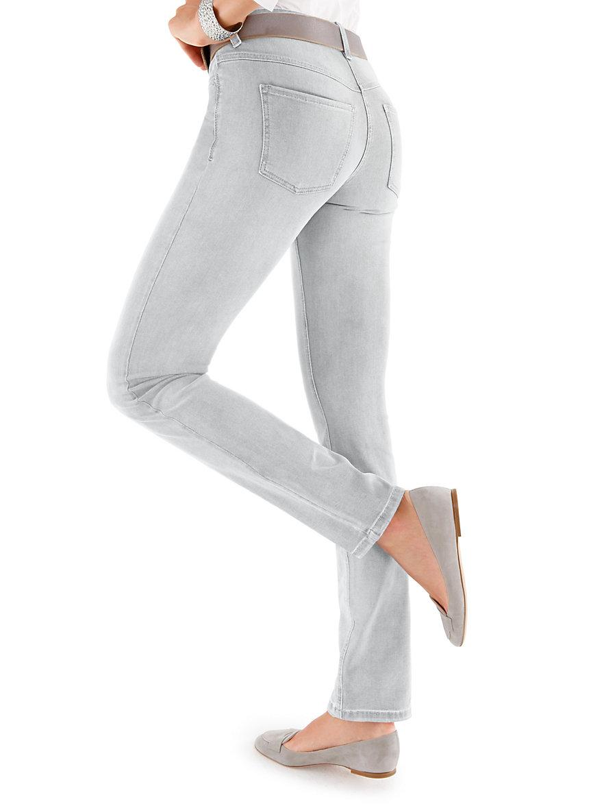 mac jeans inchlengten 32 lichtgrijs denim. Black Bedroom Furniture Sets. Home Design Ideas