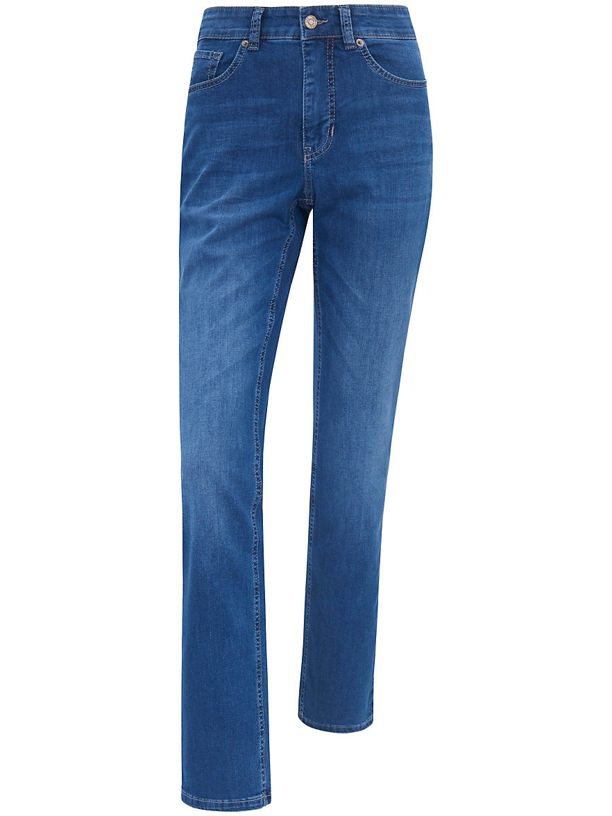 mac jeans melanie met smalle taille inchlengte 32 midblue denim. Black Bedroom Furniture Sets. Home Design Ideas