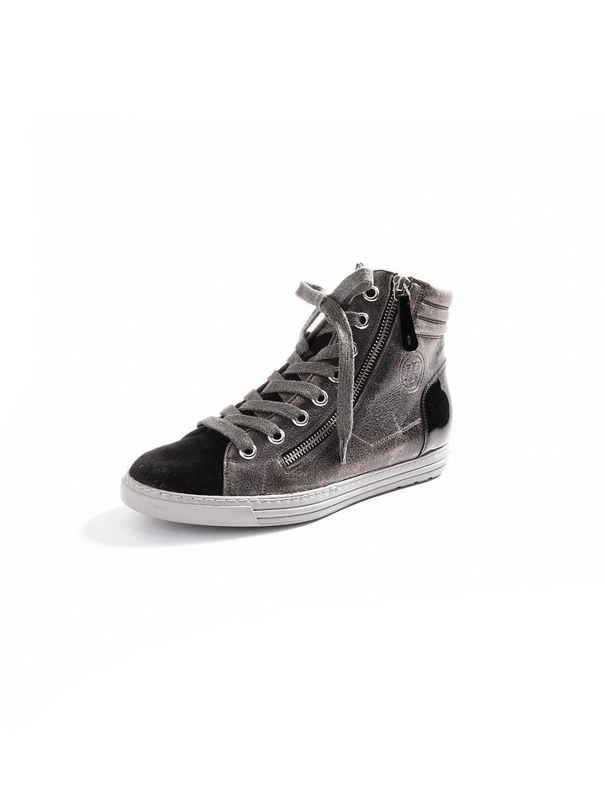 paul green sneakers antraciet metallic zwart. Black Bedroom Furniture Sets. Home Design Ideas