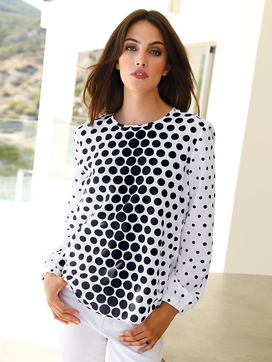 Peter hahn blouse 100 katoen wit zwart - Peter hahn damenblusen ...