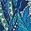 turquoise/multicolour