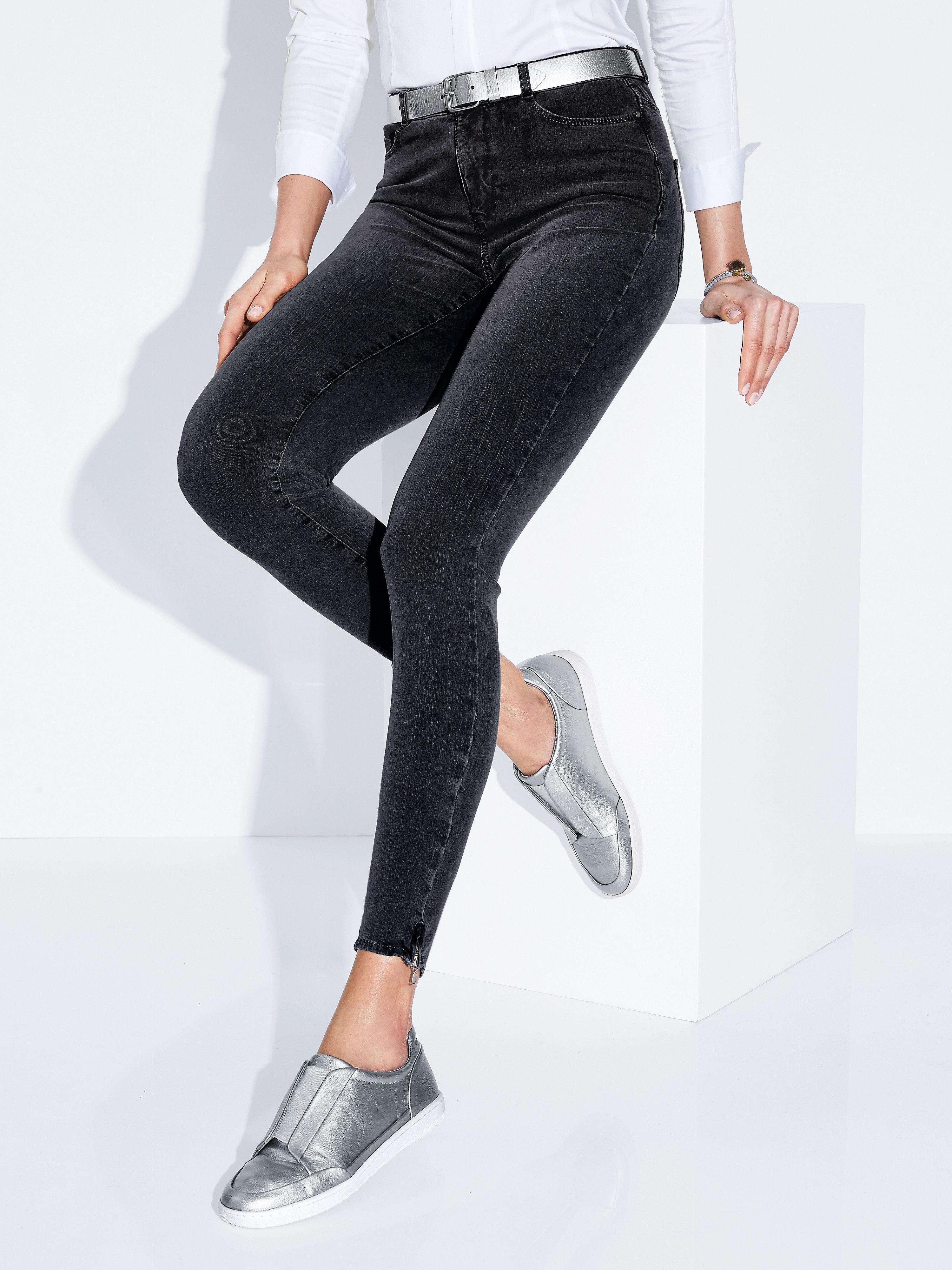 Enkellange jeans 'dream sensation skinny' van mac: supersmal 5 pocketsmodel van zeer elastisch en superzacht ...