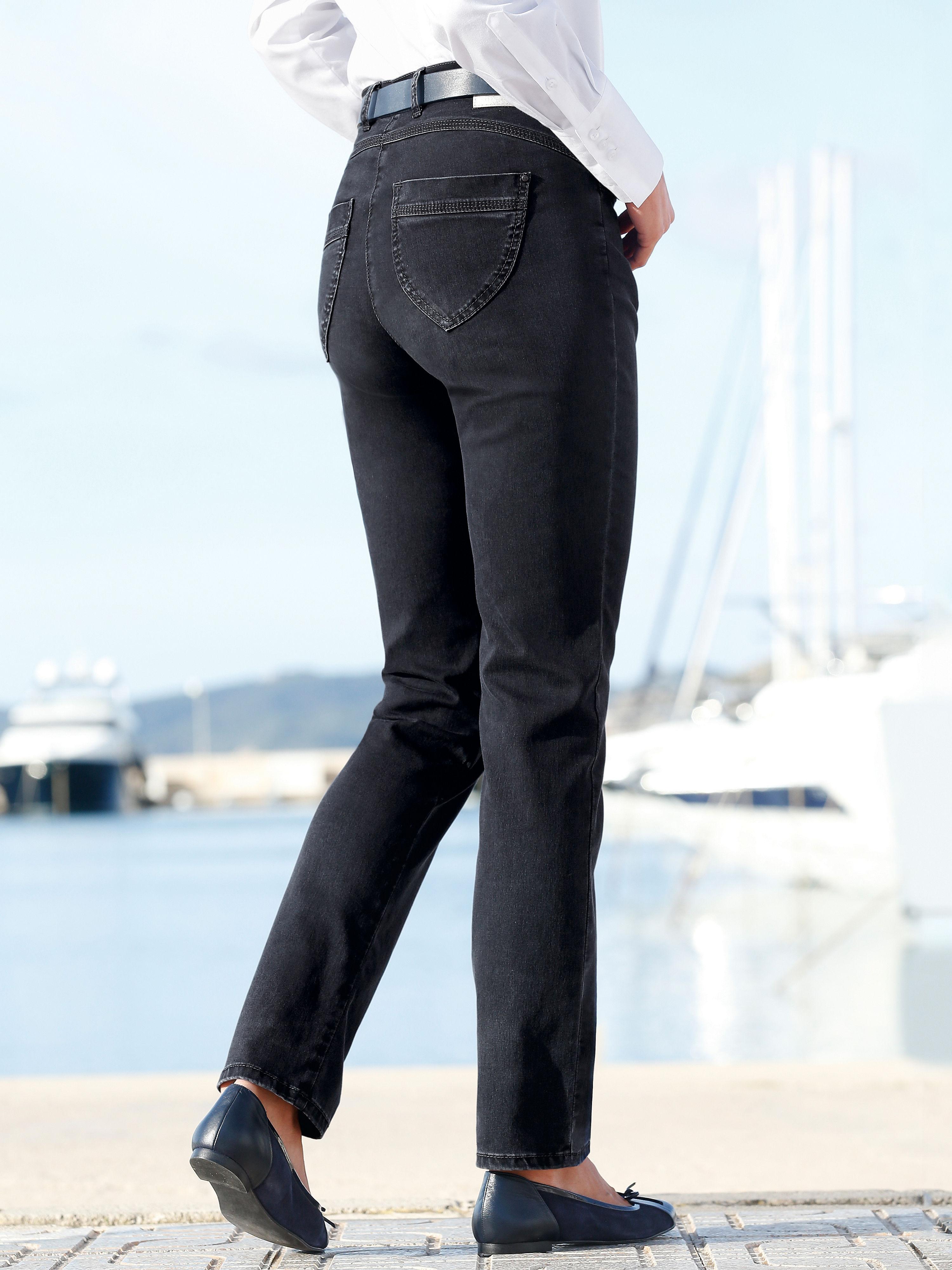 Corrigerende jeans van raphaela by brax. model lea, met 'proform s super slim' pasvorm. slank bovenbeen, ...