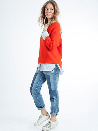 LIEBLINGSSTÜCK - Gestreepte blouse in extra lange snit