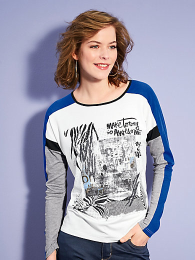 Looxent - Shirt in dessinmix met glittereffect