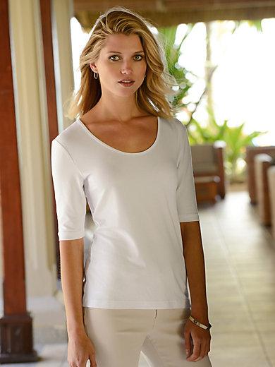 Riani - Shirt met ronde hals en iets langere, korte mouwen