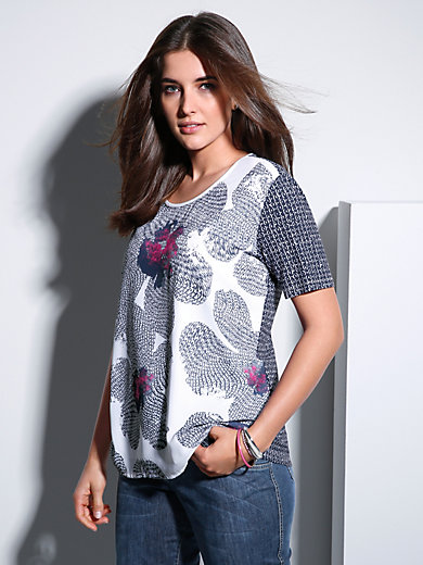 Samoon - Shirt met ronde hals en korte mouwen