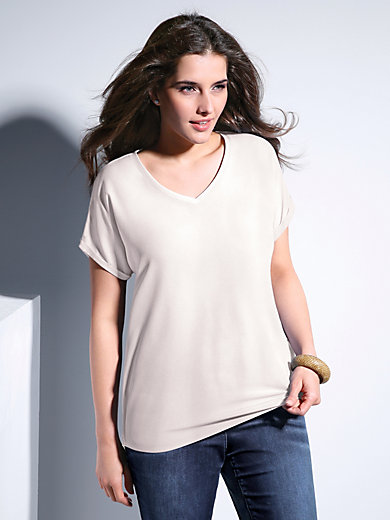 Samoon - Shirt met V-hals